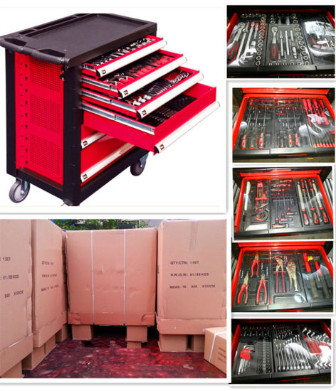 228PCS Swiss Kraft Trolly Hand Tool Set in Plastic Tray pictures & photos