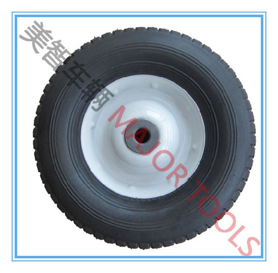 10 Inch Semi-Pneumatic Rubber Wheel for Hand Trolley pictures & photos