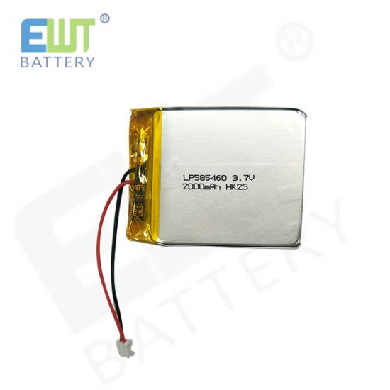 Ewt 3.7V 2000mAh Lithium Cell Lp585460 Polymer Battery for Power Supply