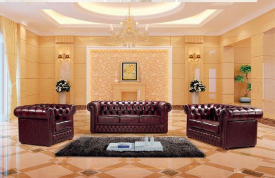 Classic Chesterfield Italian Leather Sofa Ms 23