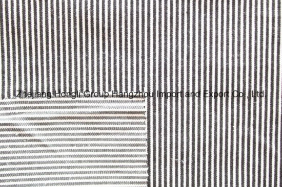 Yarn Dyed Cotton Polyester Striped Fabric for Garment, 55%Cotton 42%Polyester 3%Spandex, 255g/Sm pictures & photos