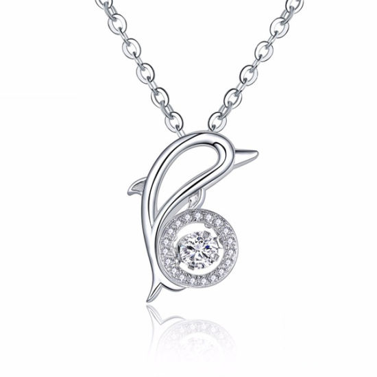 Animal Dolhpin Pendants Jewelry 925 Silver Dancing Diamond pictures & photos