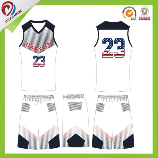 Sublimation Polyester Wholesales Blank Customized Basketball Jerseys pictures & photos