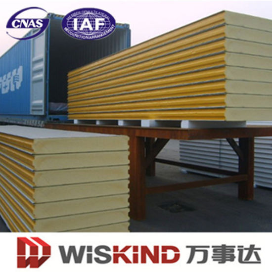 PU/EPS/Rock Wool Heat Insulation Wall Cladding and Roof Sandwich Panel for Steel Structure Building