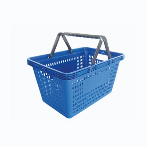 New Design Supermarket Shopping Basket Double Handle Small Hole Hand pictures & photos