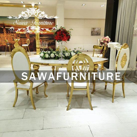 Furniture Marble Dining Table Set, Used Wood Dining Room Set