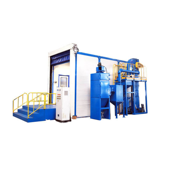 High Efficiency Rust Removal Blasting Booth Container Sandblasting Room for Sale