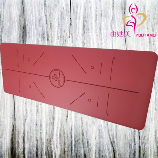 Recycleable Soft Non Slip Nature Foam Rubber PU Leather Yoga Mat