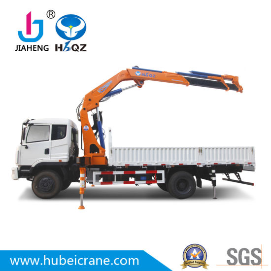 Hbqz 8 Ton Truck Mounted Crane with Folding Boom Telescopic Boom System