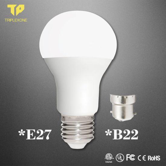 Free Sample Distributor Raw Material Parts 5WPC Aluminum 3000K 6500K B22 E14 E27 LED Bulb Light, Energy Saving Lamp, Lighting, LED Bulb, LED Lamp, LED Light