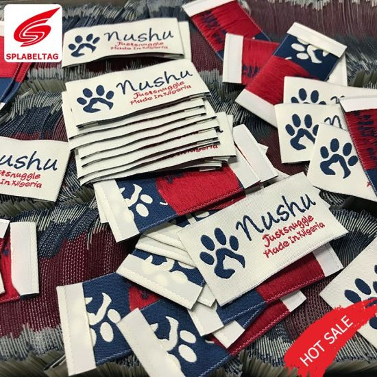 Customized Costume Fabric Emblem Main Woven Name Labels