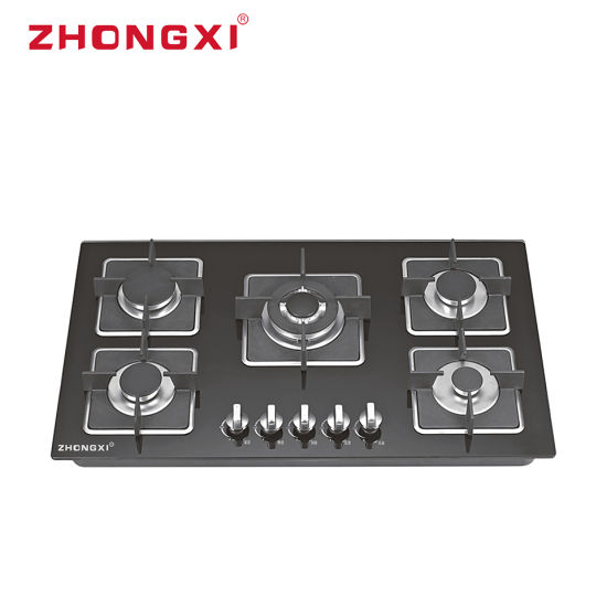Kitchen Cooking Appliance Tempered Glass 5 Burner Build in Gas Hob