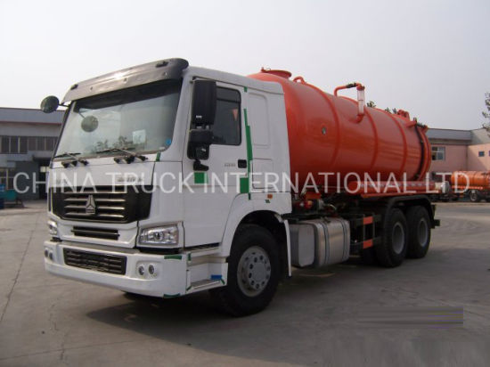 Best Selling Sinotruck HOWO 6X4 Sewer Suction Pump Sewage Tanker Vacuum Truck pictures & photos