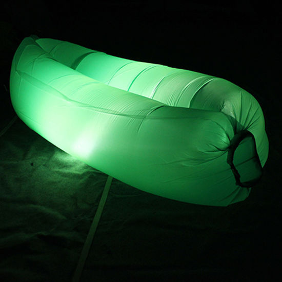 Inflatable Sleeping Bag/ Sofa/ Bed Air Bag, Colorful Outdoor Sleeping Air Bag with LED Light pictures & photos