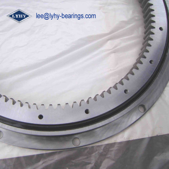 Flanged Slewing Ring Bearing with Inner Gears (RKS. 221091)