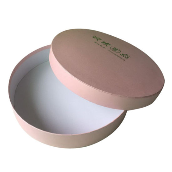 Custom Pink Refreshments or Tea Cake Round Paper Packing Box with Logo Hot Stamping