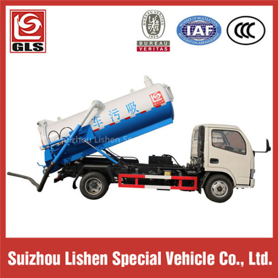 Low Price Double Axle Sewage/Fecal Suction Truck pictures & photos