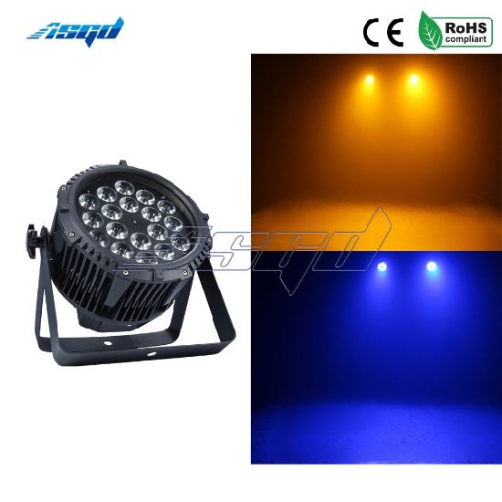 Waterproof LED PAR 18X12W RGBW 4in1 Wash Wall Light Outdoor Stage DMX Control DJ PAR Can Pool Asgd Party Music Show pictures & photos
