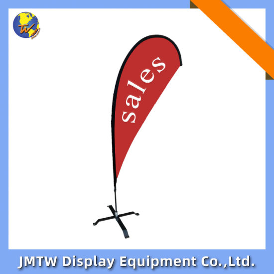 Double Sided or Single Sided Exhibition Teardrop Flag for Beach with Crossbase
