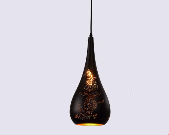 Wholesale Etched Big Horn Shape Rose Pattern Hanging Pendant Lights