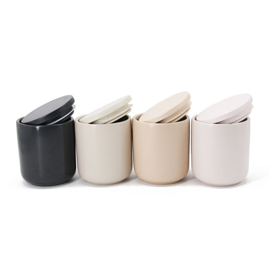 Wholesale Home Decoration Colorful Ceramic Candle Container Candle Holder Candle Jar with Lid