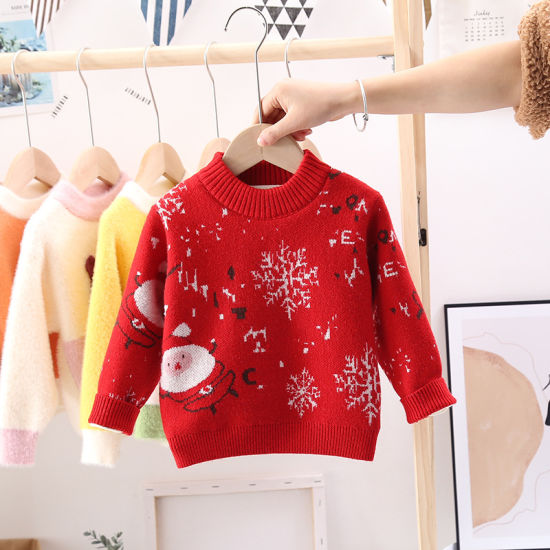 China Winter Pullover Baby Clothes Thick Striped Christmas Fashion Baby Sweaters China Baby Clothes And Clothing Price