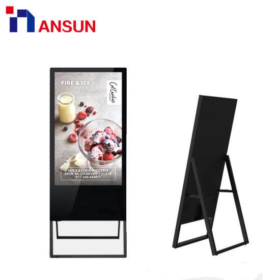 32 43 50 Super Slim Digital Signage Advertising LED Display with Network