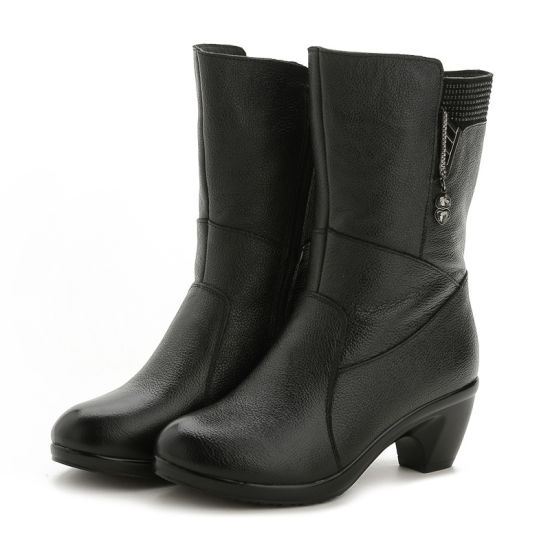 Real Leather Women Boots/The Best Women High Boots