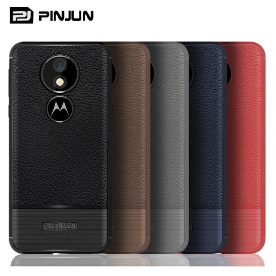 Luxury Litchi Grain Soft Rubber TPU Phone Case for Moto G6 Play pictures & photos
