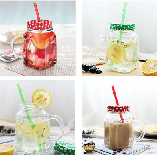 China Factory Wholesale Beverage Creative Juice Drinking Glass Mason Jar pictures & photos