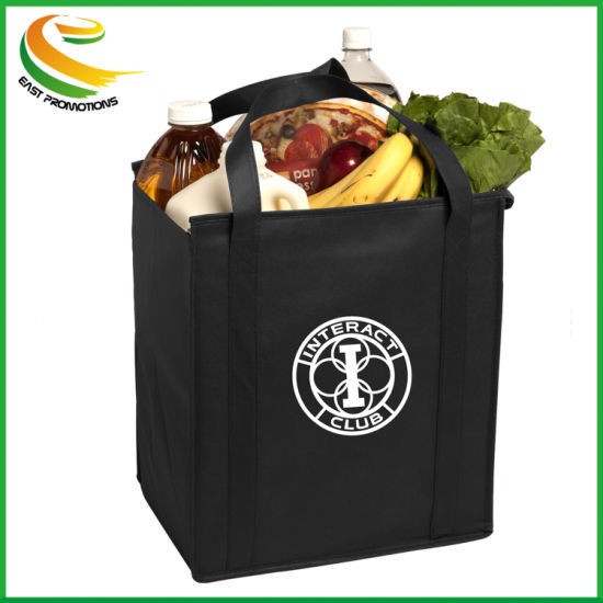 Custom Promotional Laminated Non Woven Grocery Tote Bag pictures & photos