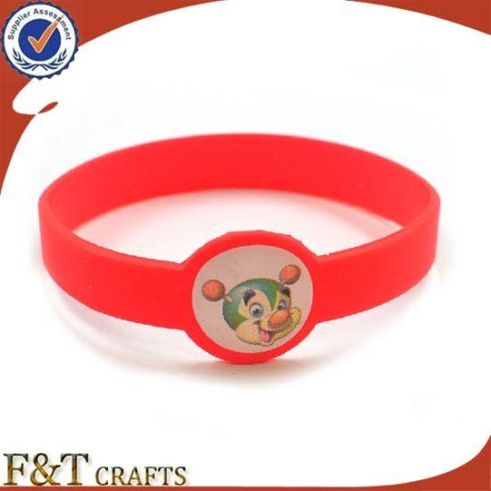 Custom Paw Filling Clor Wristband Sports Silicone Bracelet