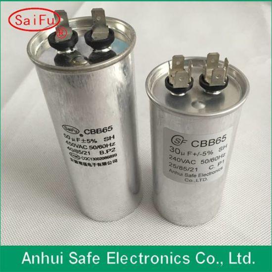 China Popular Patent Air Conditioner Capacitor of Cbb65 10UF