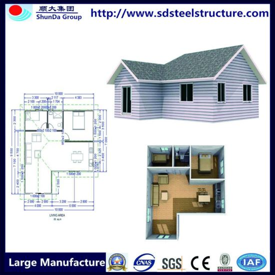 Light Steel Frame Cheap Prefabricated Houses for Sale pictures & photos