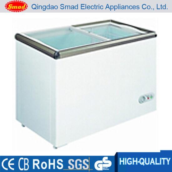 China 150l Sliding Glass Door Display Showcase Chest Freezer China
