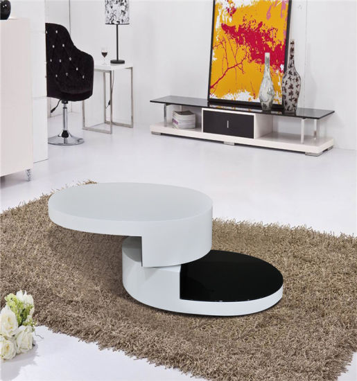 High Gloss MDF Coffee Table Living Room Furniture (CJ-M059) pictures & photos