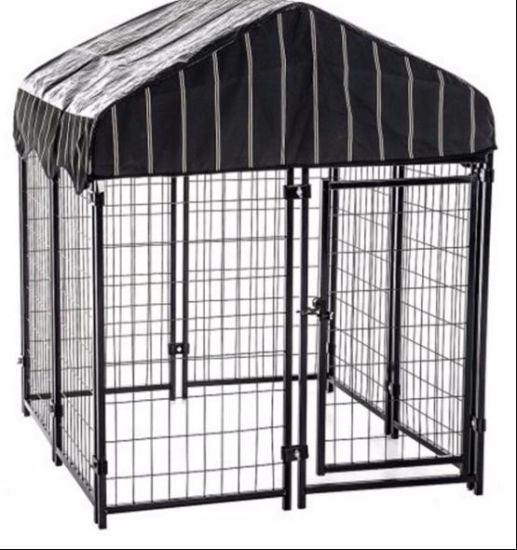 China 4ftx4ftx6FT Black Powder Coated Welded Wire Dog Fence Kennel ...