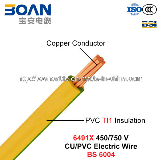 China 6491X, Electric Wire, House Wiring, 450/750 V, Cu/PVC Cable ...