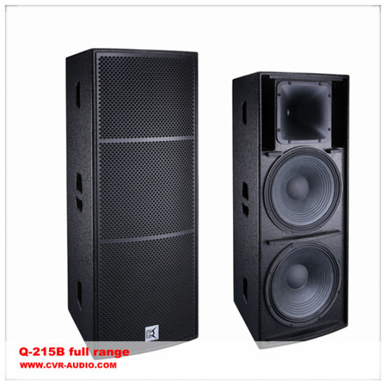 China Long Throw Full Range Speaker Foh Speaker Cabinet Dual 15 Inch