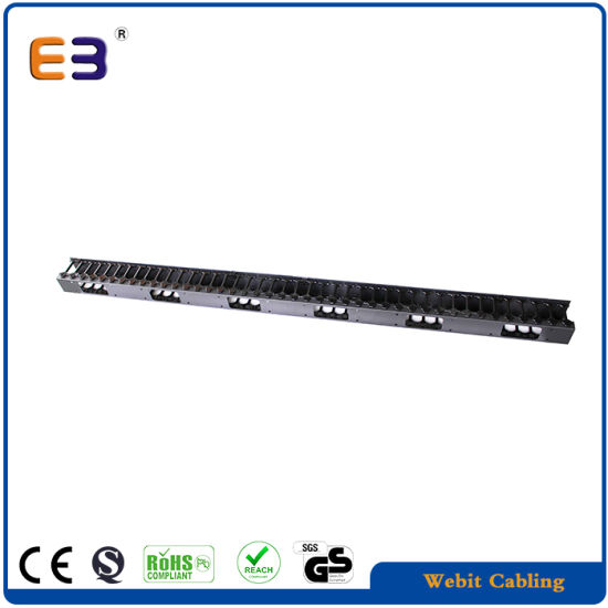 China 0u Installation Cable Manager Plastic Vertical Network Cable ...