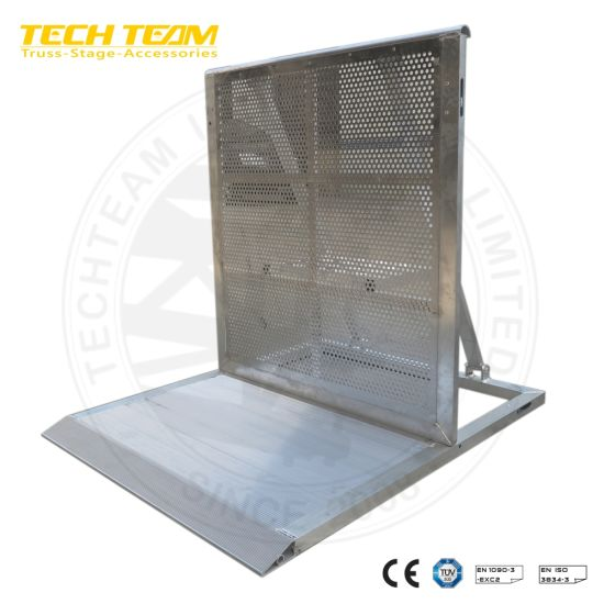 Portable Road Barriers/Steel Traffic Barriers /Metal Crowd Control Barrier pictures & photos