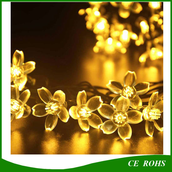 Solar Power Fairy String Lights 20/30/50 LED Peach Blossom Decorative Garden Lawn Patio Christmas Trees Wedding Party Lights pictures & photos