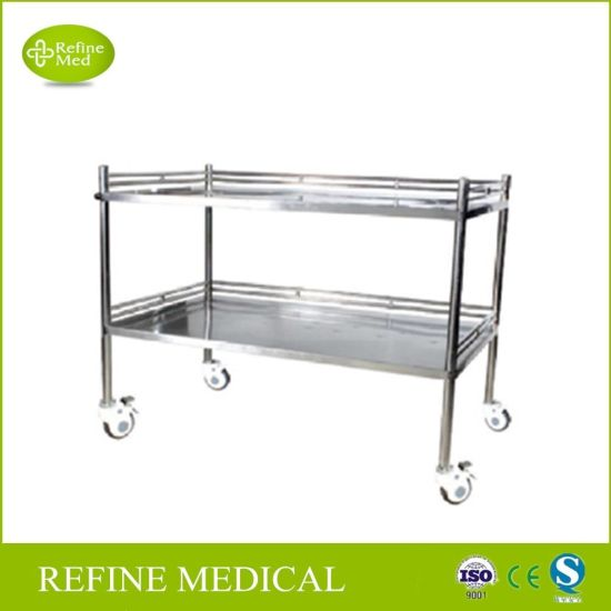 E 46 Medical Equipment Stainless Steel Instrument Trolley