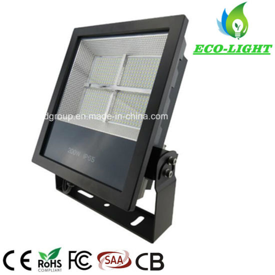 New Type High-Brightness SMD LED Outdoor Waterproof 200W High-Power Floodlight Warranty 5 Years From Shenzhen Factory