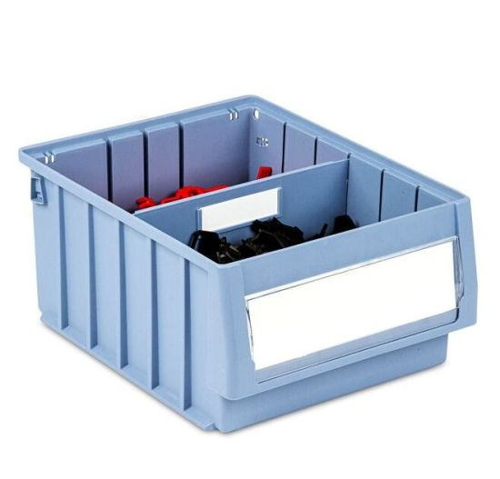 Blue Color Durable Plastic Shelf Tray with Steel Handles pictures & photos