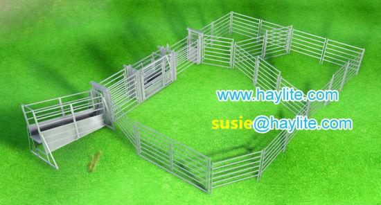 China Cattle Yard Design Including Panel Gate Loading Ramp