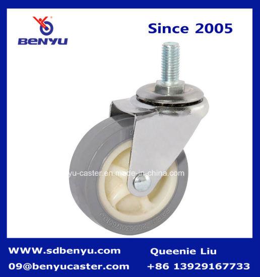 Light Duty Screw Type Gray PU Castor Wheel