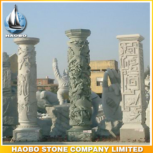 Granite Hand Carved Dragon Columns pictures & photos