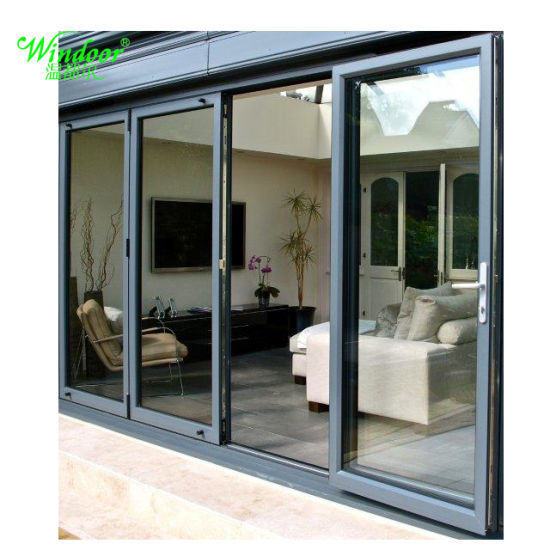 Balcony Applying 5mm/6mm Glass French Aluminum Door Manufacturer