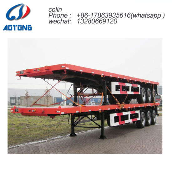 Best Selling 70tons Low Bed Semi Trailer for Sale pictures & photos